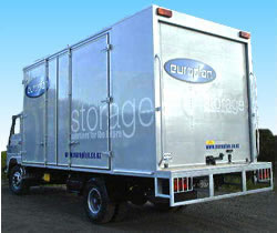 ALIMAX box with side container doors and rear Whiting door