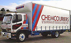 6.7m Curtainsider for chemicals  transport